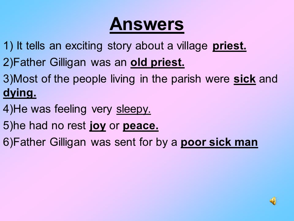 the ballad of father gilligan