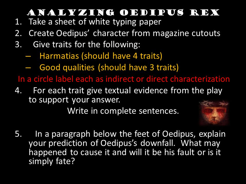 oedipus rex characters