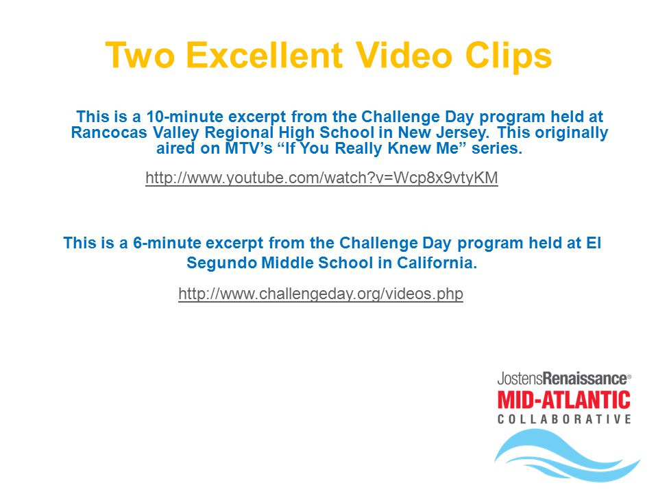 Think, Challenge day program for teens thanks for