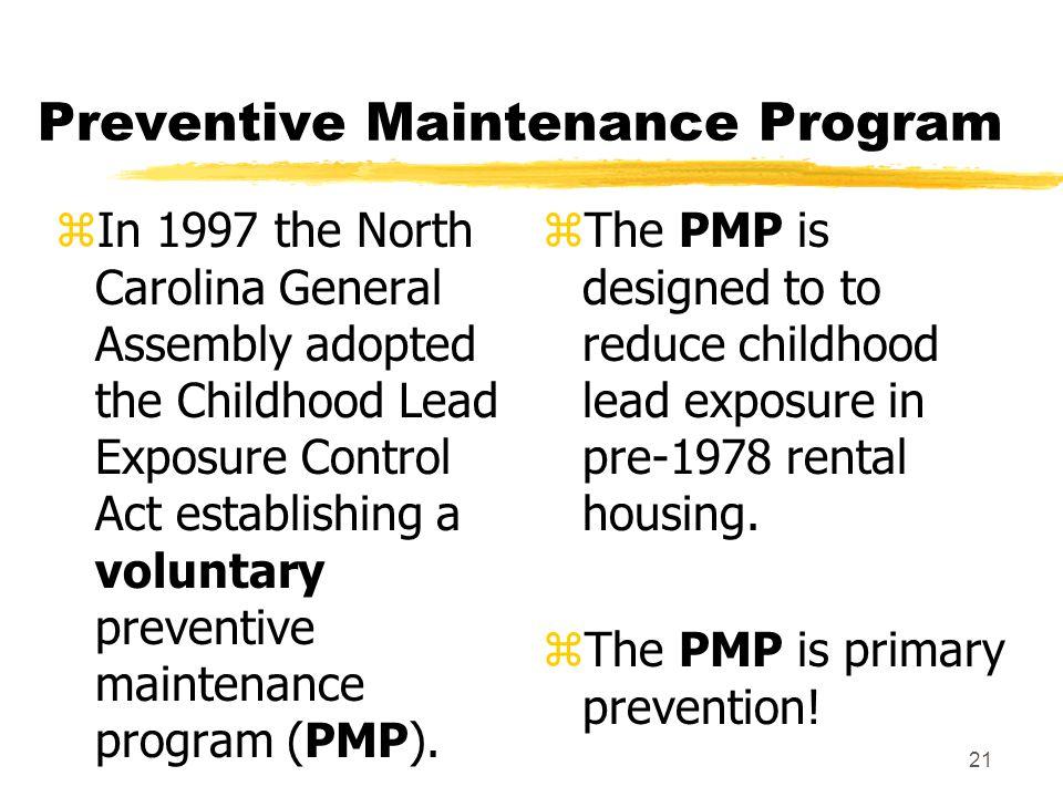1 North Carolina Childhood Lead Poisoning Prevention Program