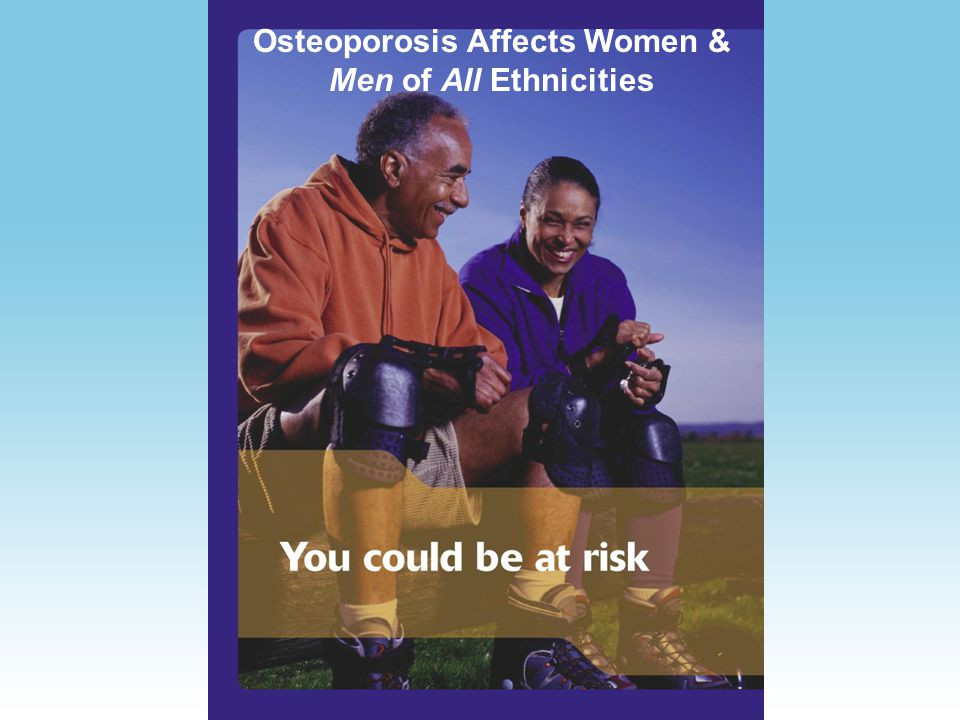Osteoporosis & Persons with Disabilities Low intake of dietary calcium Medications Weak or unused muscles Lack of accessibility to exercise facilities