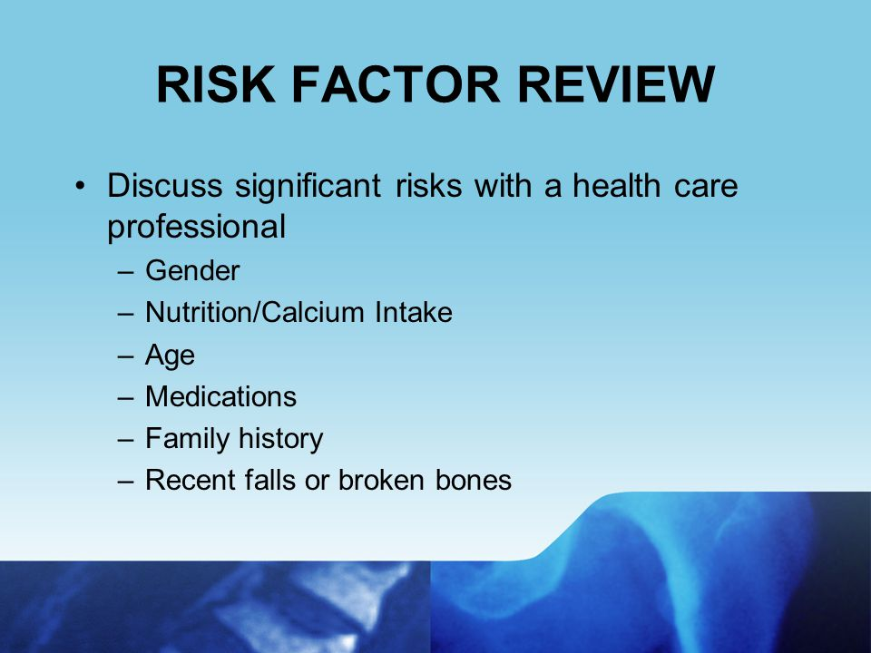 Osteoporosis Affects Women & Men of All Ethnicities