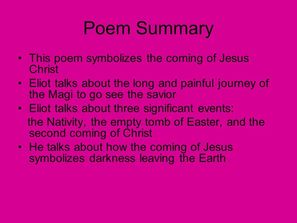 journey of the magi ts eliot summary