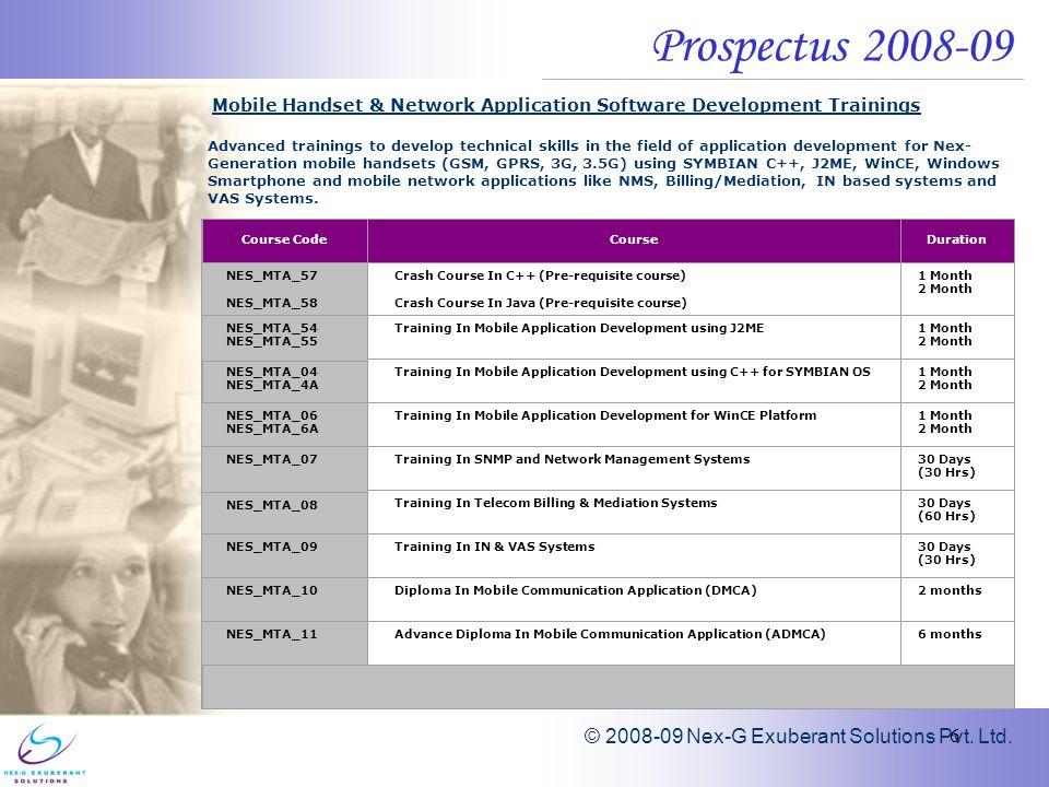 Nex-G Exuberant Solutions Pvt  Ltd  Prospectus Mobile