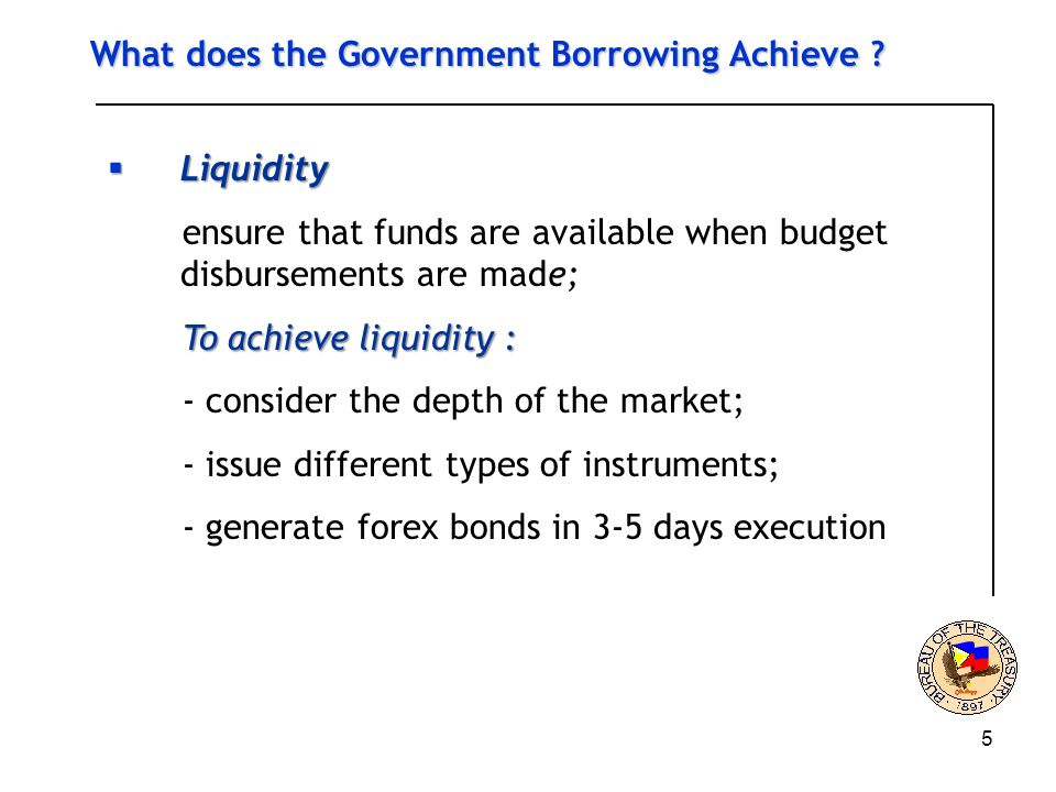5 What does the Government Borrowing Achieve .