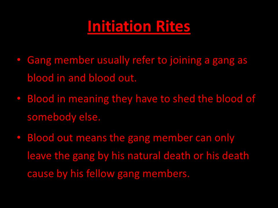 Gang A Gang Can Be A Group Of Criminals Or Delinquents Who Band