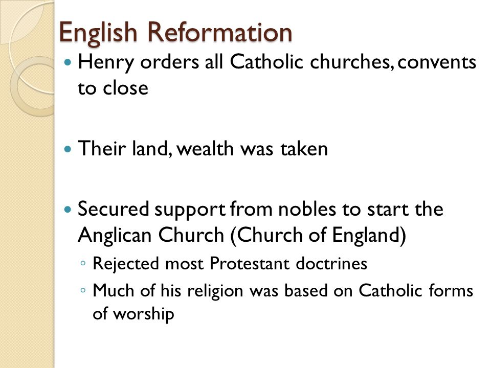 The reformation mr williamson somerville hs an introduction as 17 english reformation henry orders all catholic ccuart Images