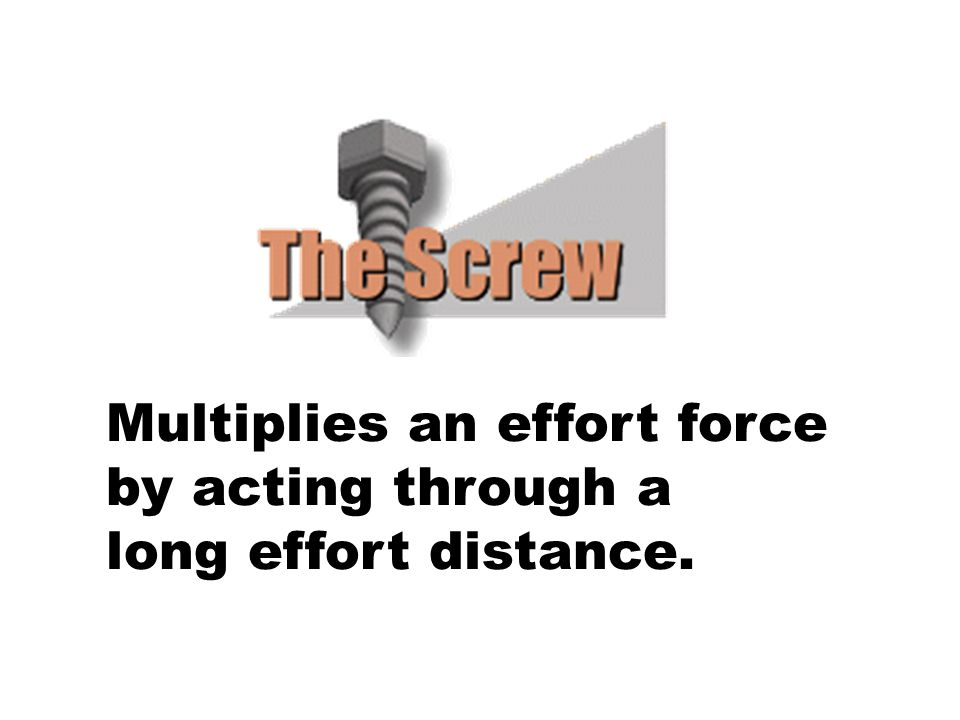 Multiplies an effort force by acting through a long effort distance.