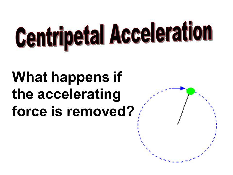 What happens if the accelerating force is removed