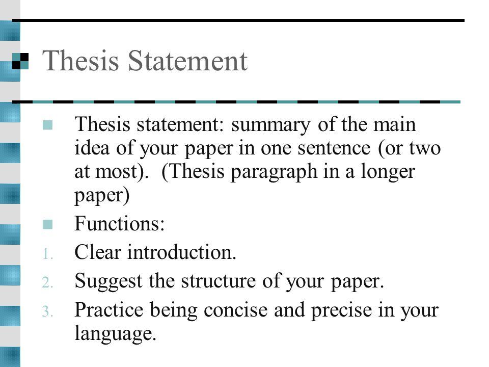 thesis statements seduction