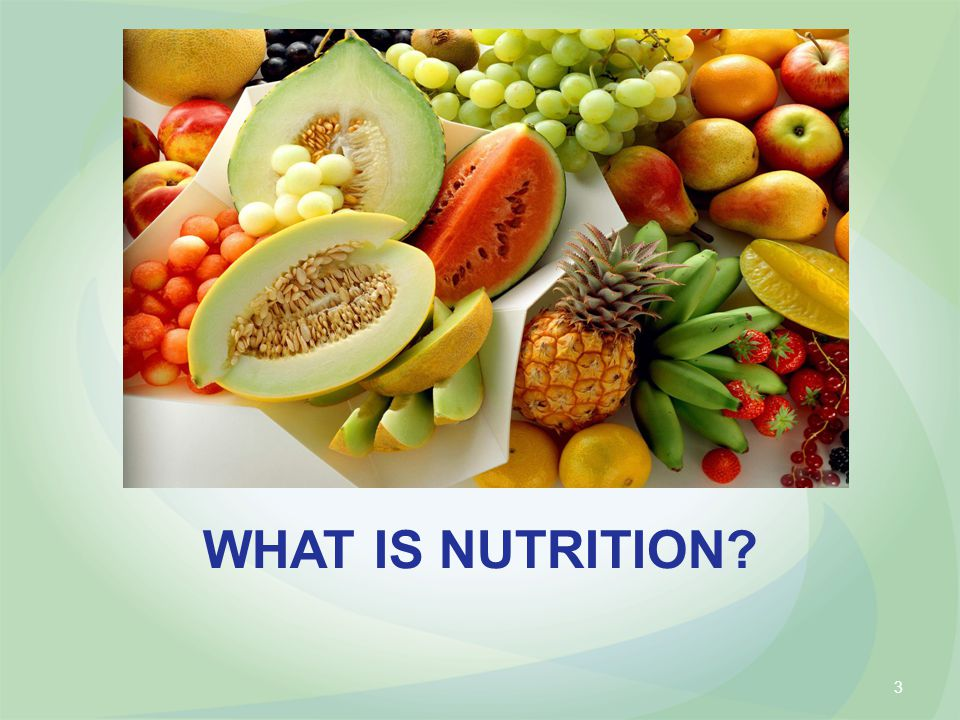 WHAT IS NUTRITION 3
