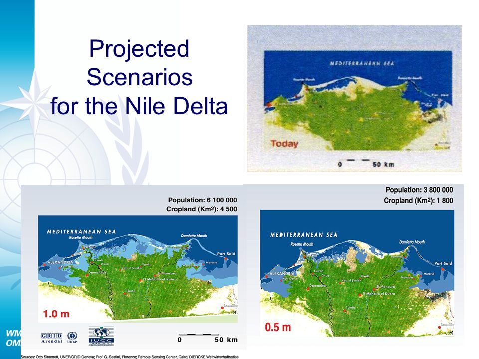 Projected Scenarios for the Nile Delta