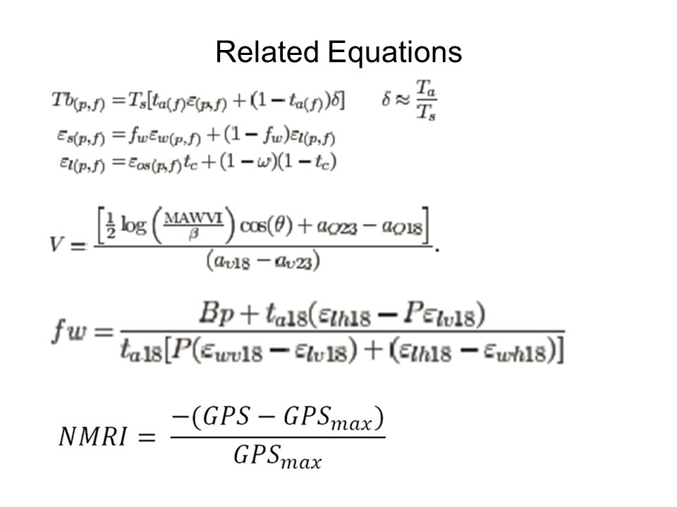 Related Equations 1