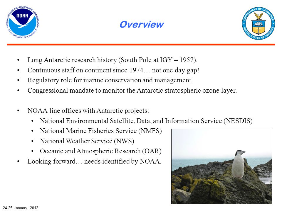 Overview January, 2012 Long Antarctic research history (South Pole at IGY – 1957).