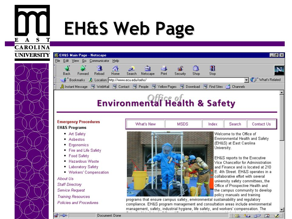 EH&S Web Page