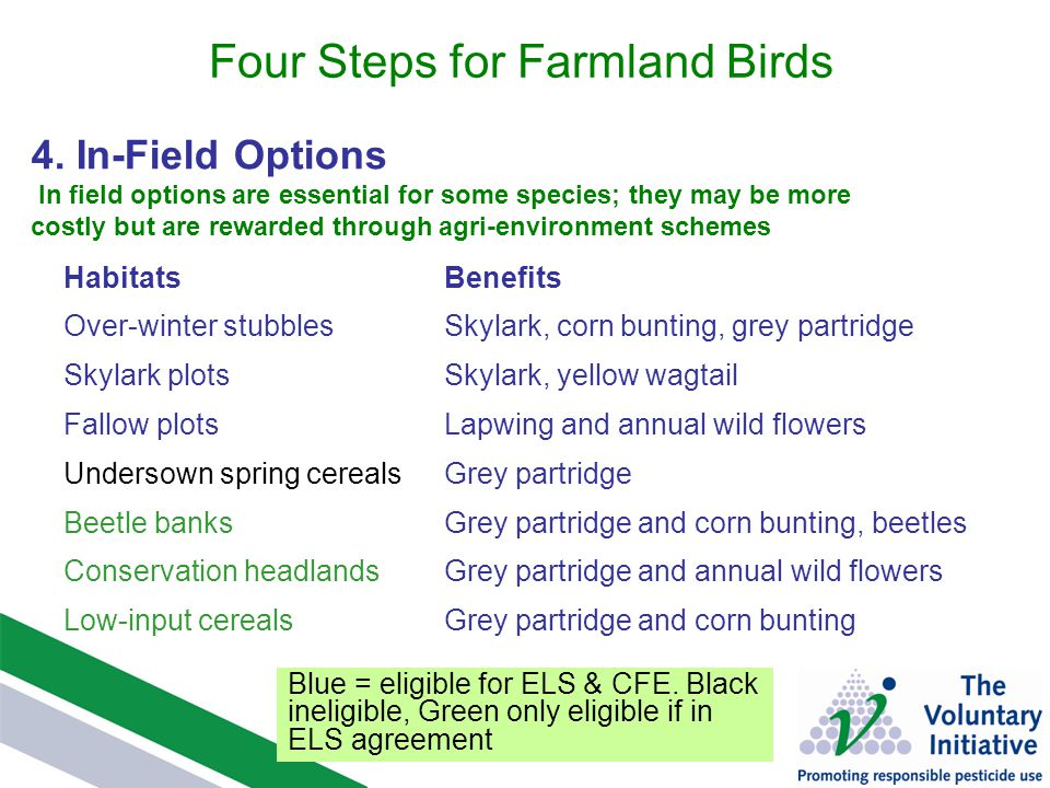 Farmland Birds And Pesticides Advice Based On Rspb Research Funded
