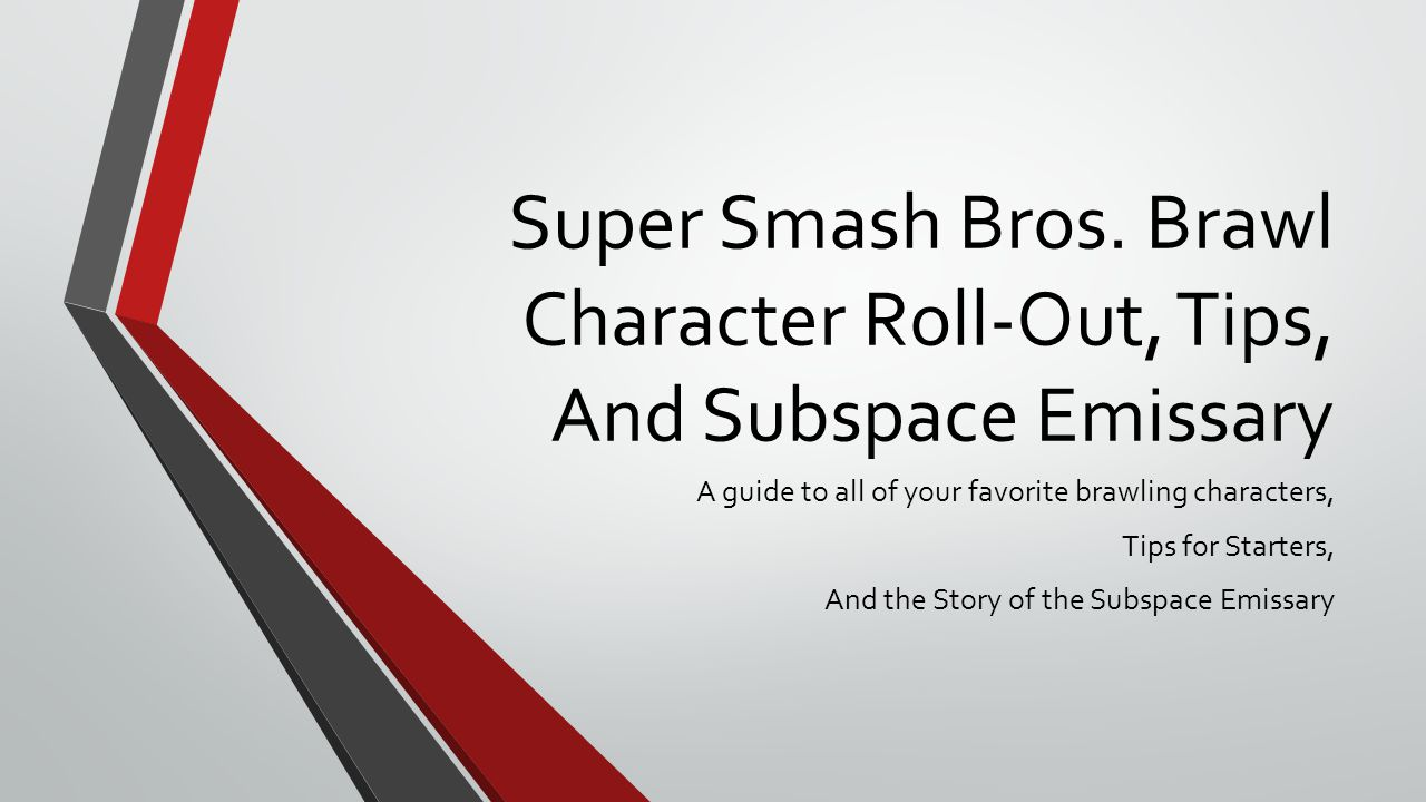 Super Smash Bros Brawl Character Roll Out Tips And Subspace