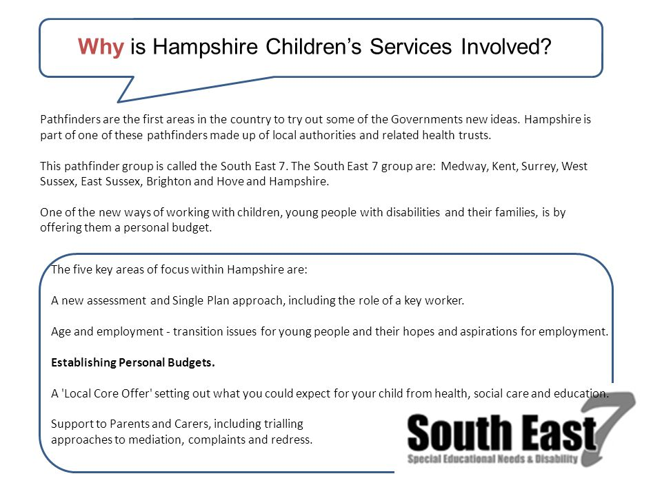Why is Hampshire Children's Services Involved.