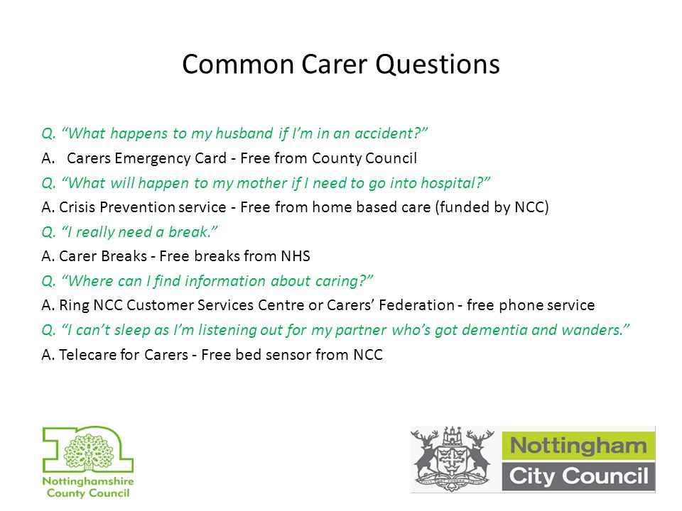 Common Carer Questions Q.
