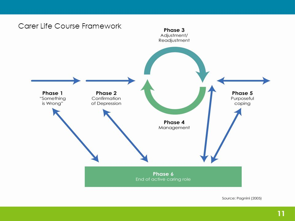 The support role 11 Carer Life Course Framework