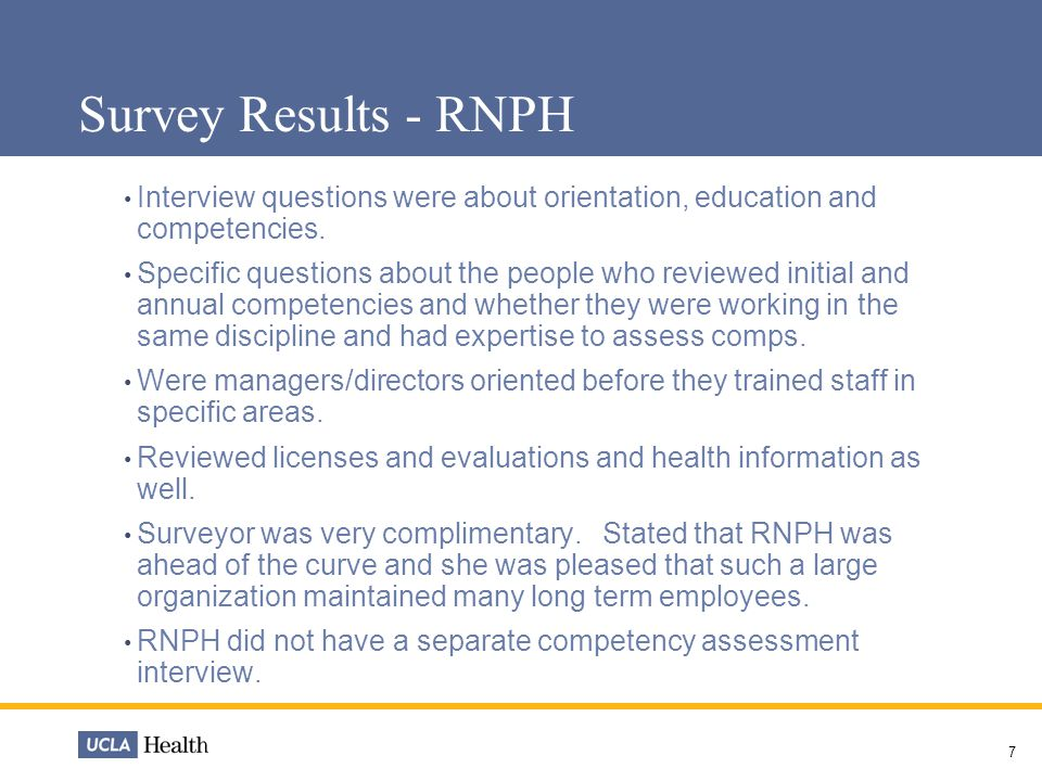 Human Resource Updates September Survey Results - SMH TJC
