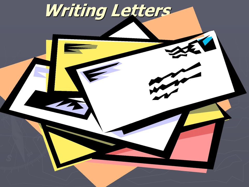 1 writing letters