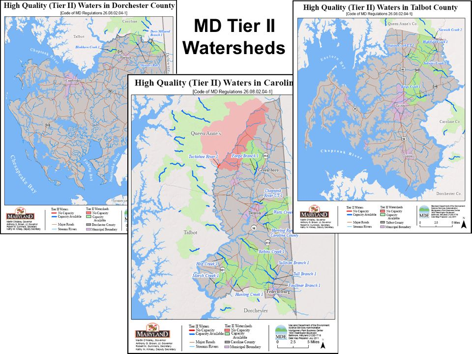MD Tier II Watersheds
