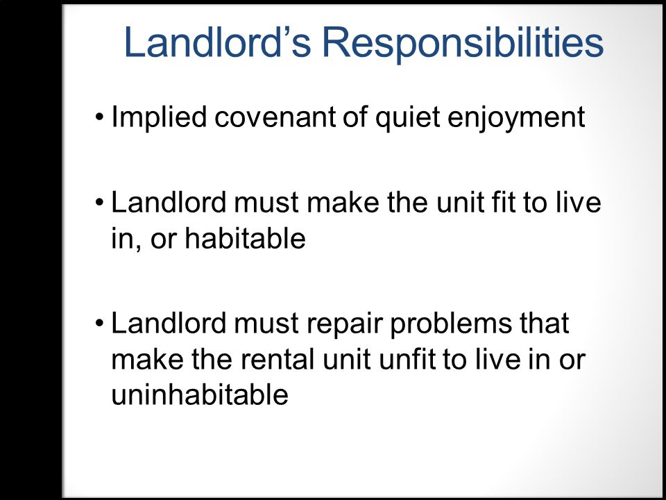 Landlord/Tenant Law For Public Librarians Ronnette Ramos