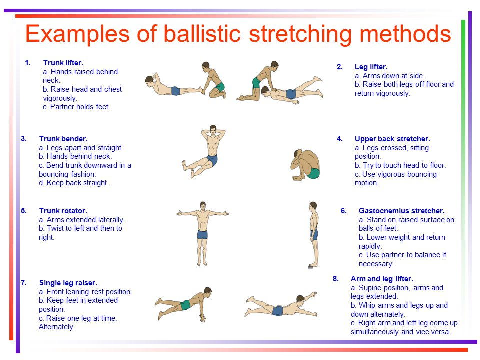 Static stretches examples.