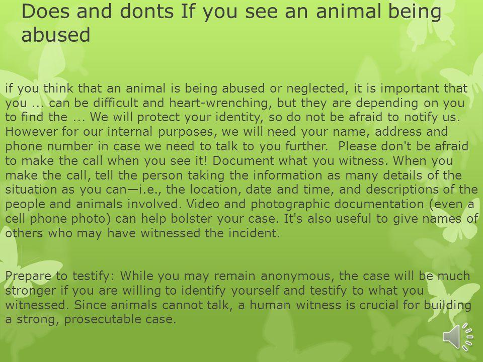 The animal treatment (abuse) By: triniti Farris 8 th grade