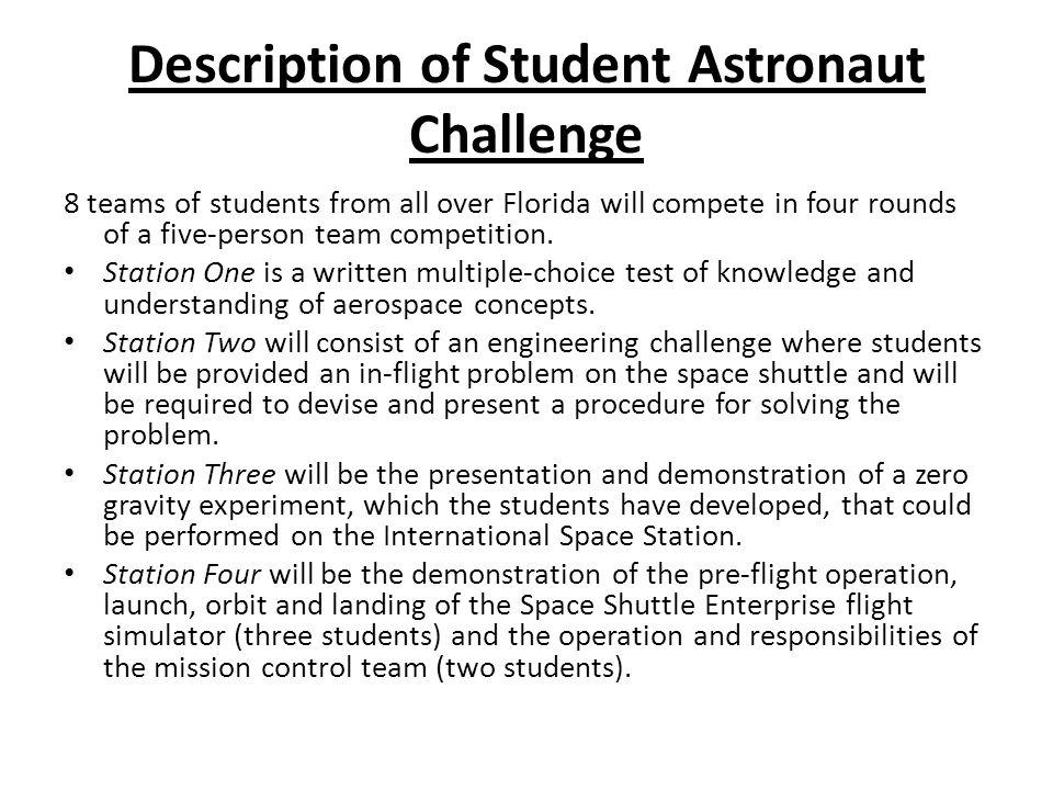 Astronaut description