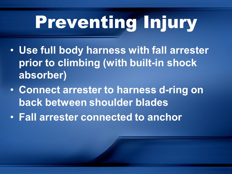 Fall Protection Basics Today We Will: Standards Hierarchy of Control