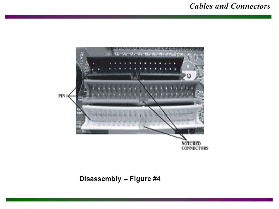 Cables and Connectors Disassembly – Figure #4