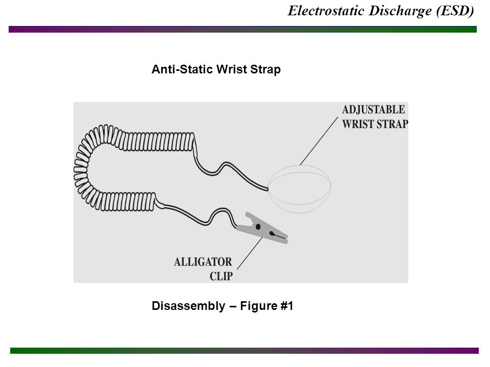 Electrostatic Discharge (ESD) Anti-Static Wrist Strap Disassembly – Figure #1