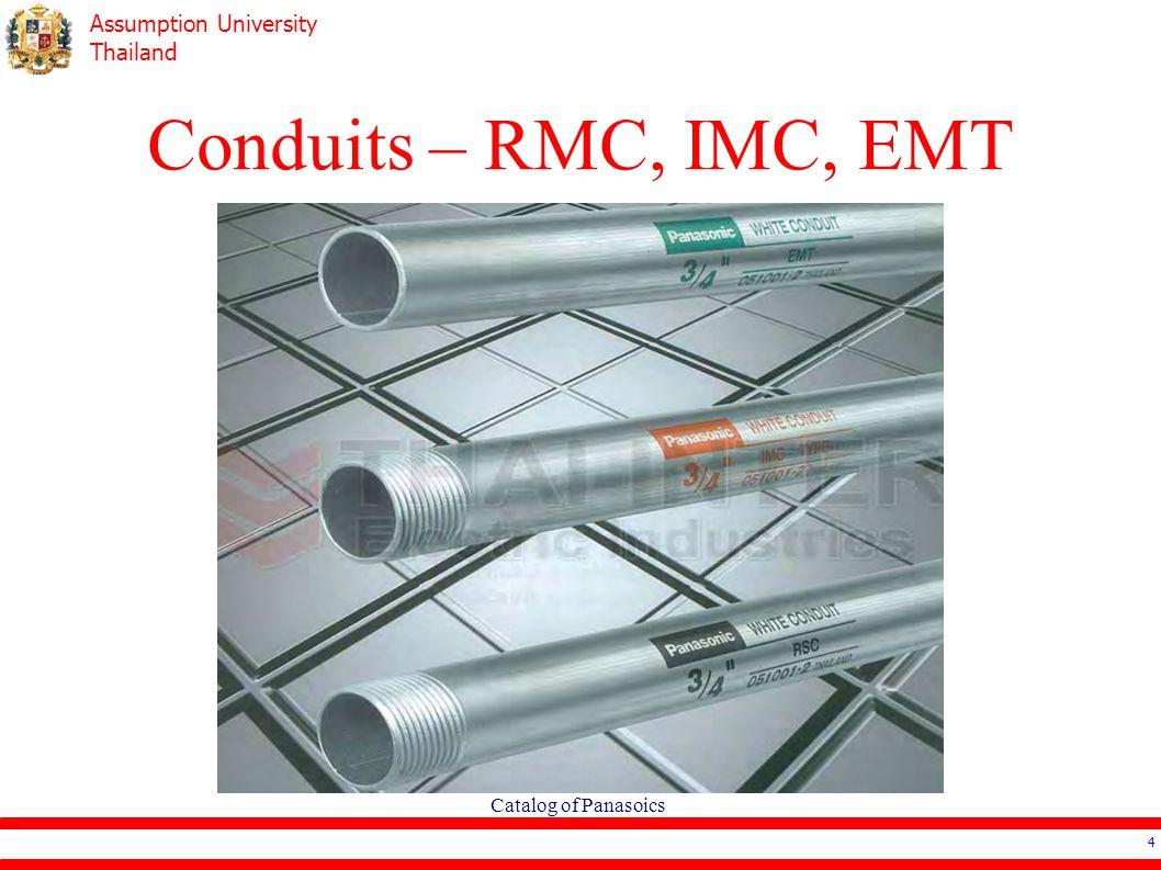 Assumption University Thailand Ee4503 Electrical Systems Design Emt Metal Tubing Conduit Galvanized Steel Pipe 4 Conduits Rmc Imc Catalog Of Panasoics