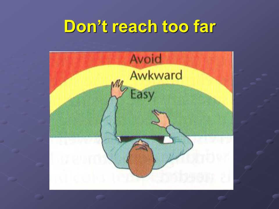 Don't reach too far