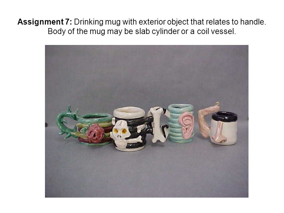 Ignment 7 Drinking Mug With Exterior Object That Relates To Handle