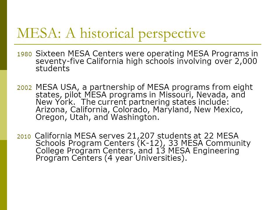 Mesa Mathematics Engineering Science Achievement Fall Middlehigh
