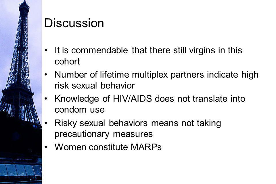 High risk sexual behavior definition
