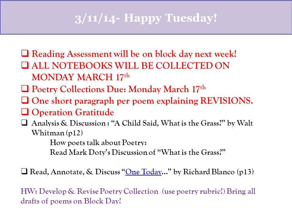 one today poem analysis