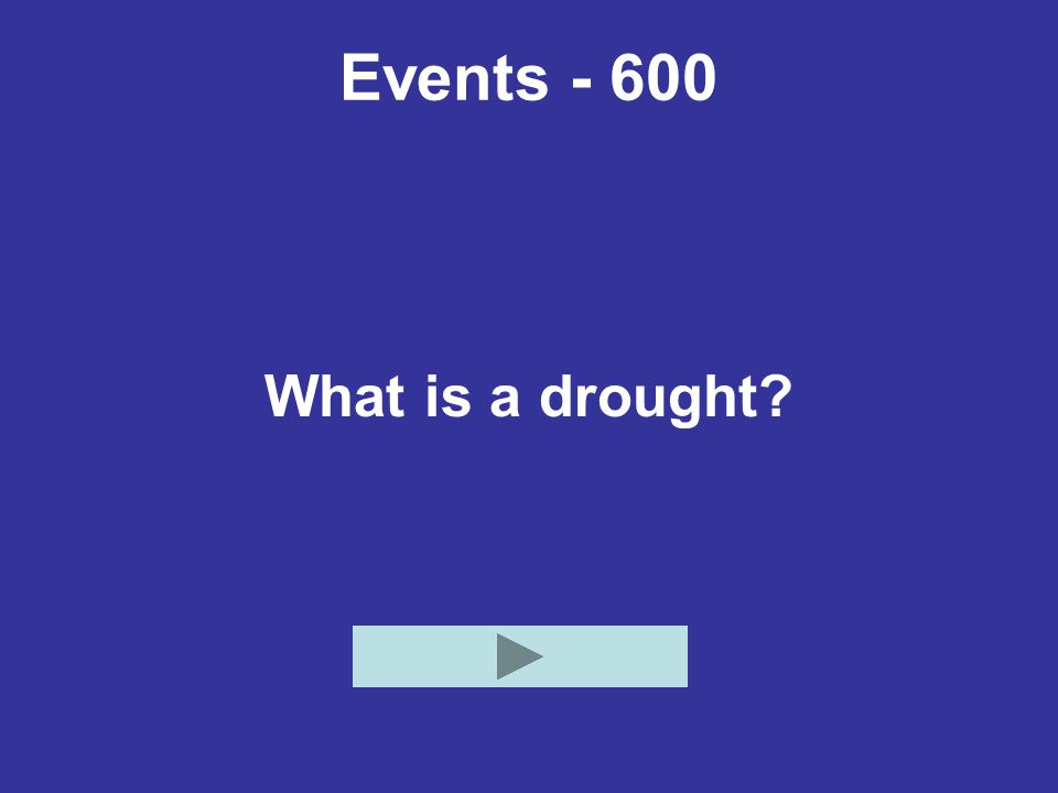 Events - 600 What is a drought