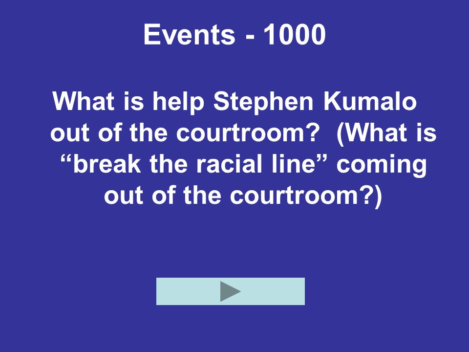 Events - 1000 What is help Stephen Kumalo out of the courtroom.
