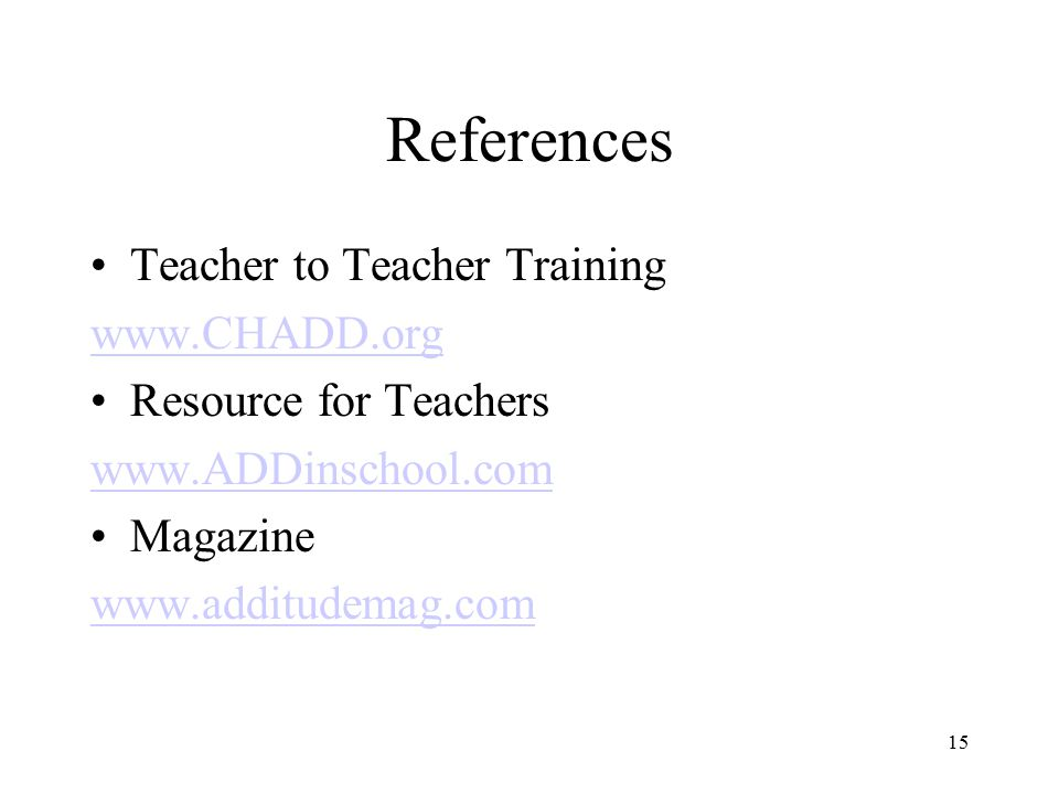 References Teacher to Teacher Training   Resource for Teachers   Magazine   15