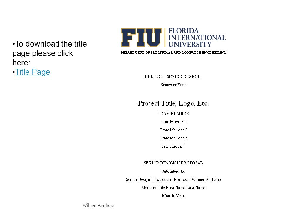 Wilmer Arellano Fiu Use Template At Proposal Template Wilmer