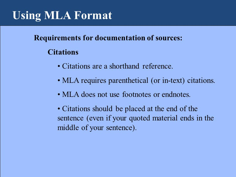 using mla format why do i need to use a format ppt download