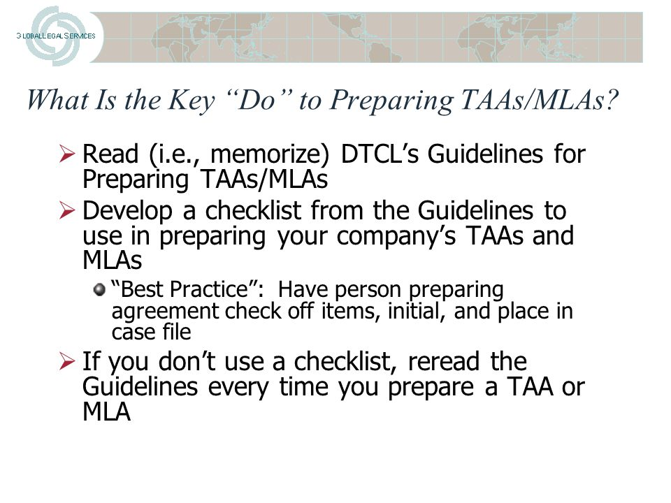 Dos And Donts Of Drafting Taas And Mlas Presented To National