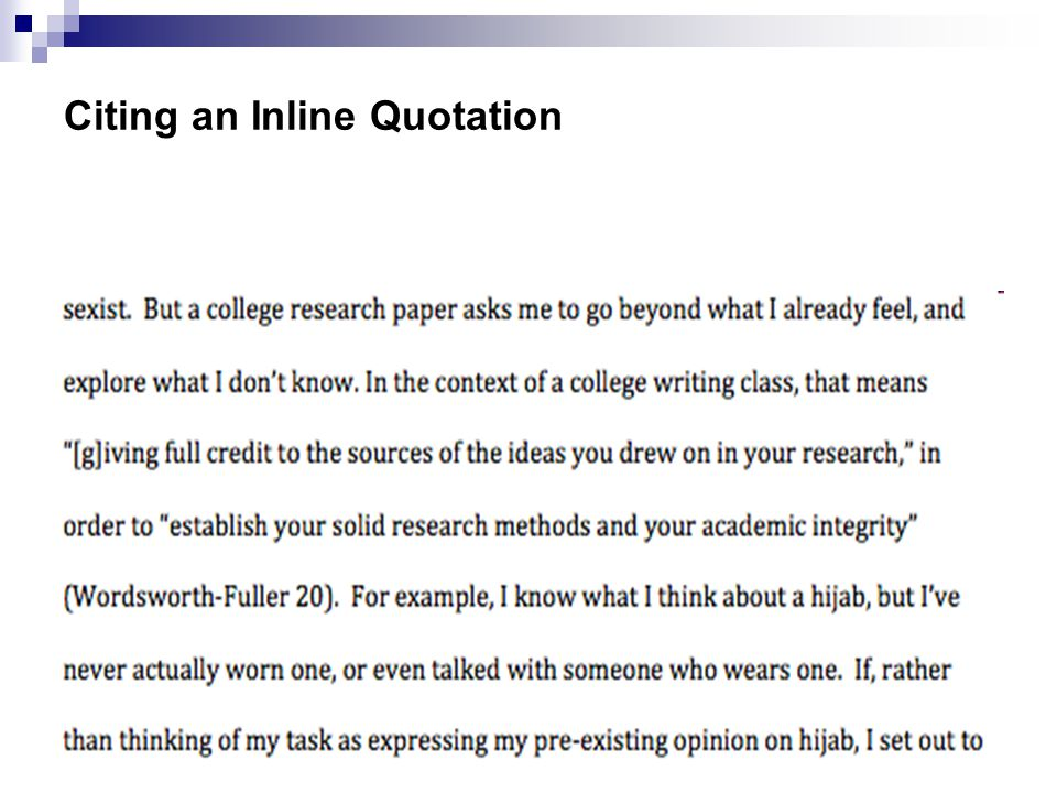 Citing an Inline Quotation