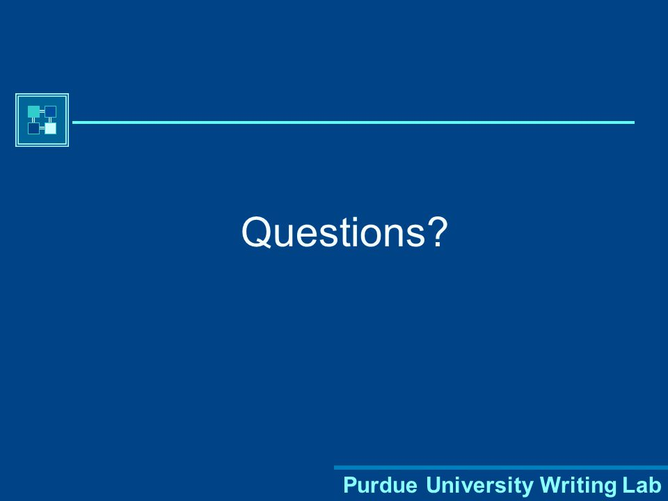 Purdue University Writing Lab There are many different combinations and variations within MLA citation format.