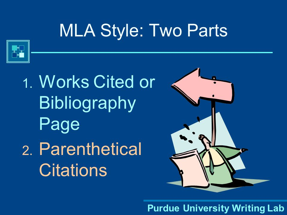 Purdue University Writing Lab Where Do I Find MLA Format.