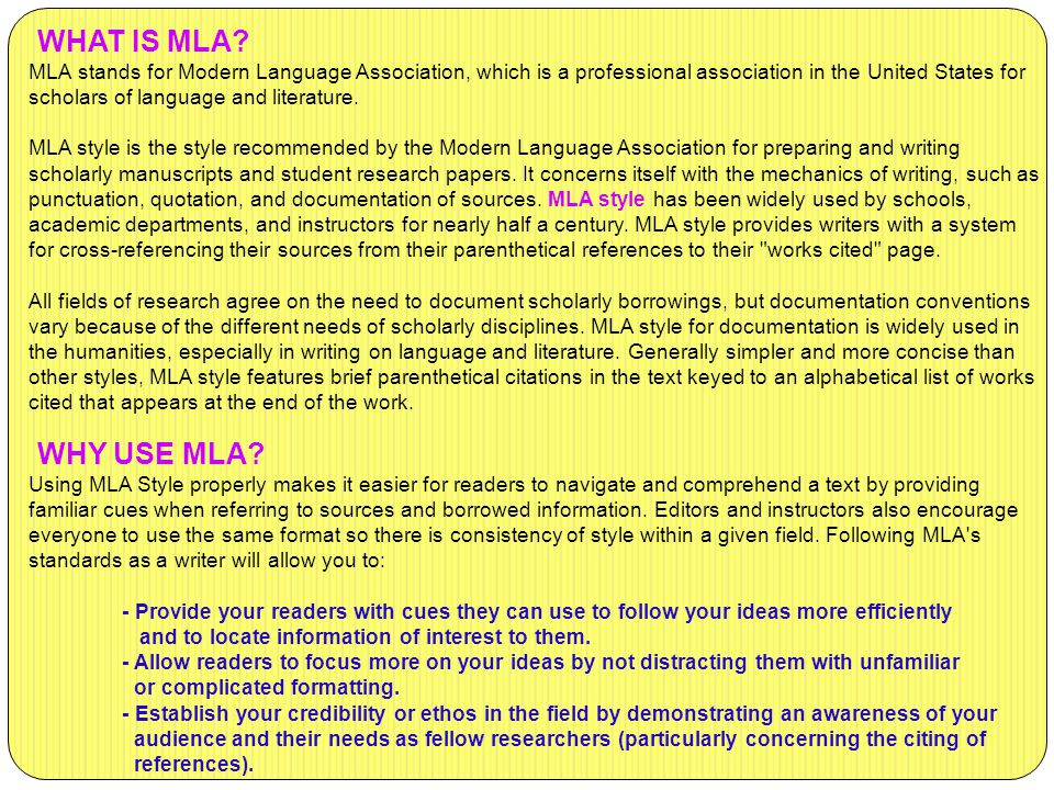 mla conventions what why and how general formatting titles
